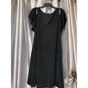 MSK black and silver cocktail dress